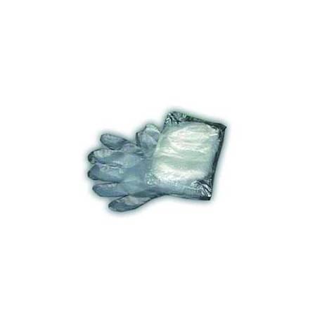 Pack de 100 guantes de polietileno.