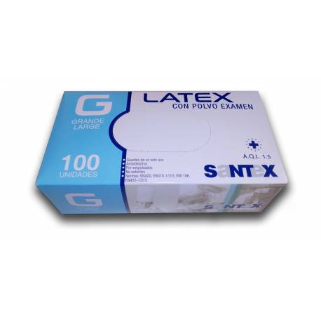 Guantes de Latex con Polvo.