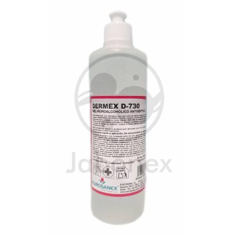 DERMEX D-730 Botella 500ml hidrogel antiséptico
