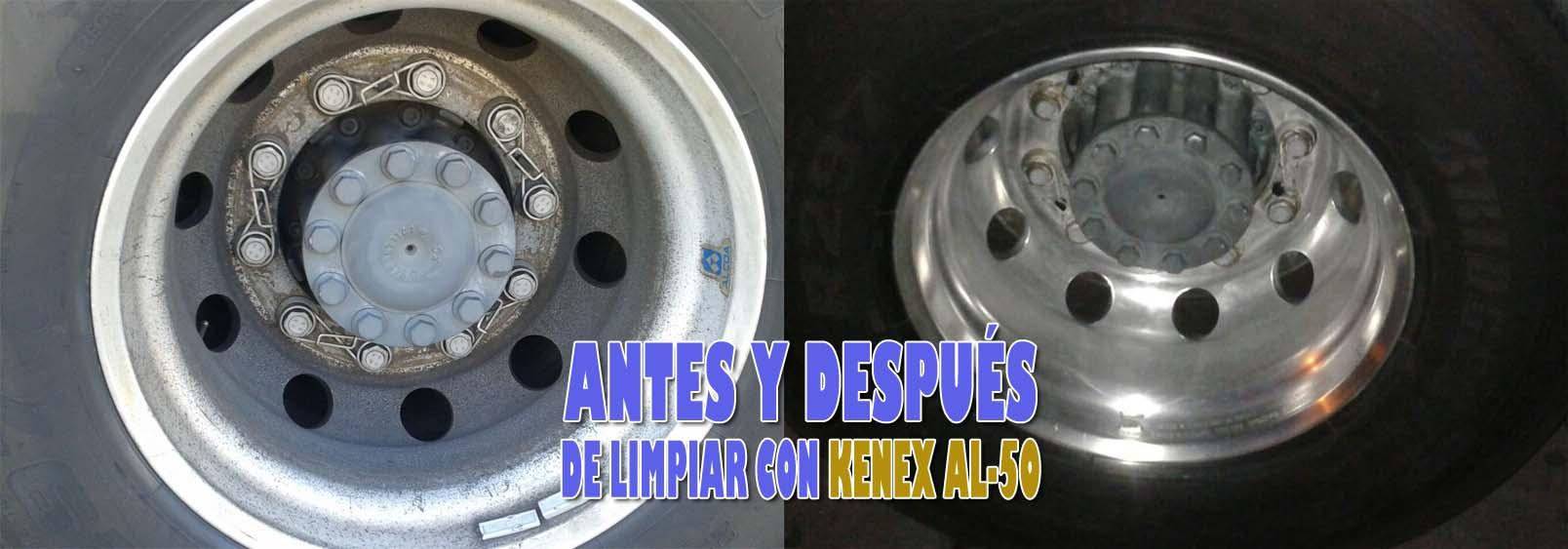 Limpiado de llantas de aluminio Kenex AL-50